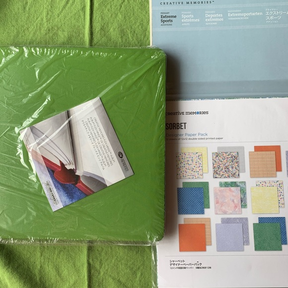 Creative Memories Coverset and paper kits